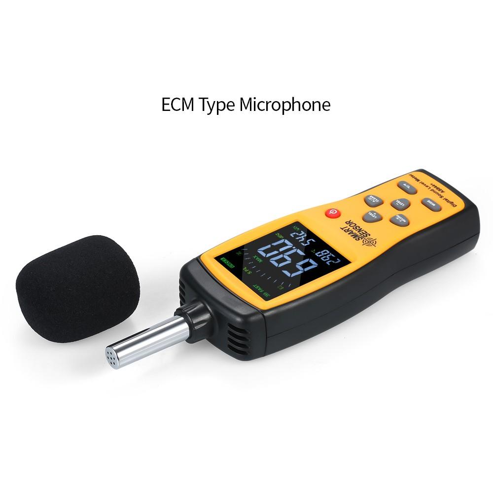 SMART SENSOR AS844+ Digital Sound Level Meter Digital Noisemeter LCD Sound  Level Meter 30-130dB Noise Volume Measuring Instrument Decibel Monitoring