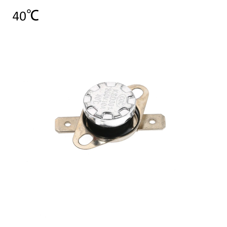 5 piezas KSD301 Termostato Interruptor De Control De Temperatura Normal Abierto 10A 250V