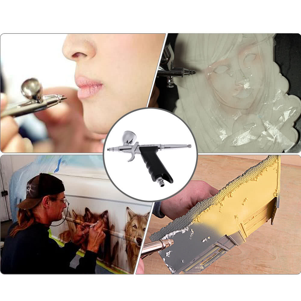 Kkmoon professional double action pistol trigger airbrush for Airbrush tattoo paint