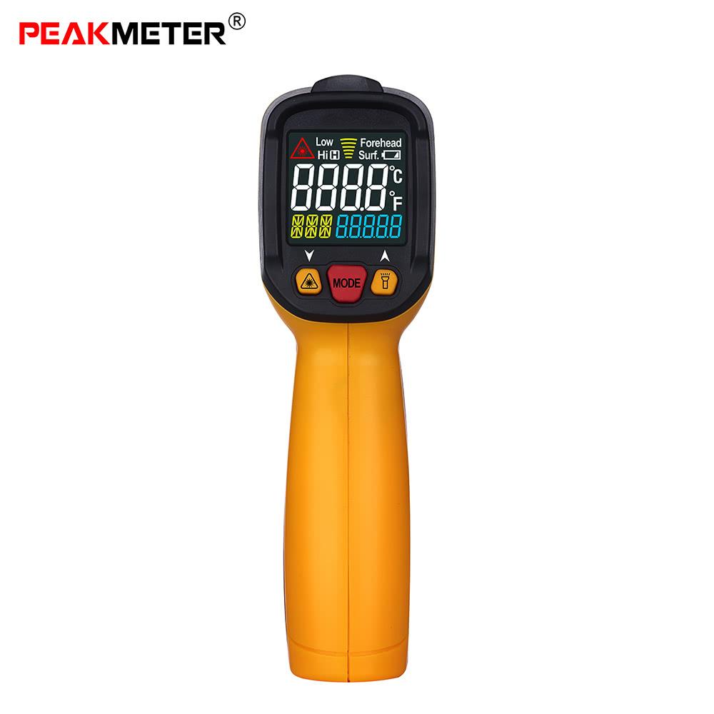 PEAKMETER PM6530A -50~300u00b0C 12:1 Handheld Non-contact Digital Infrared IR Thermometer Temperature Tester Alarm Adjustable Emissivity