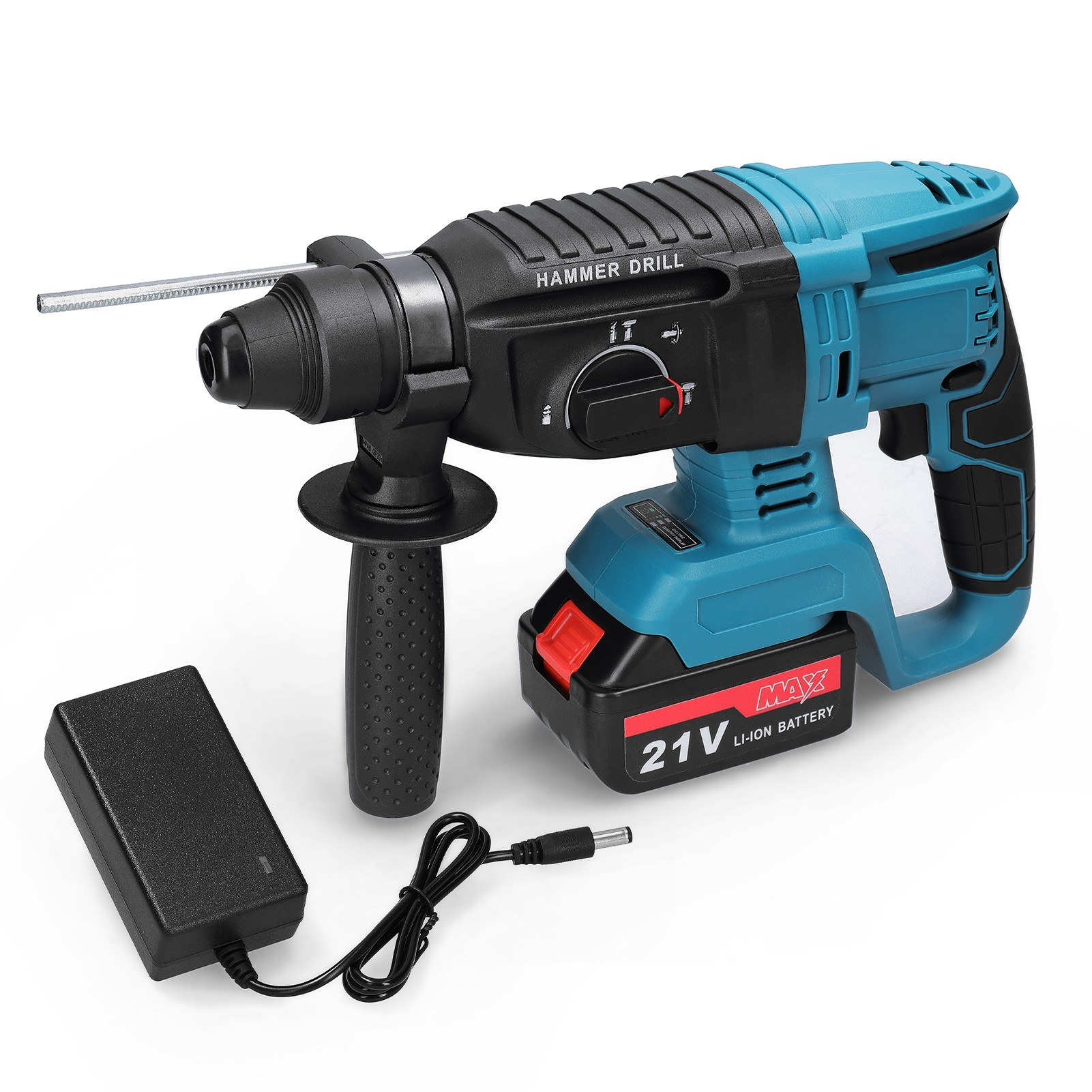 cafago.com - 53% OFF Multifunctional Rechargeable Impact Electric Hammer Drill Rotary,free shipping+$101.65