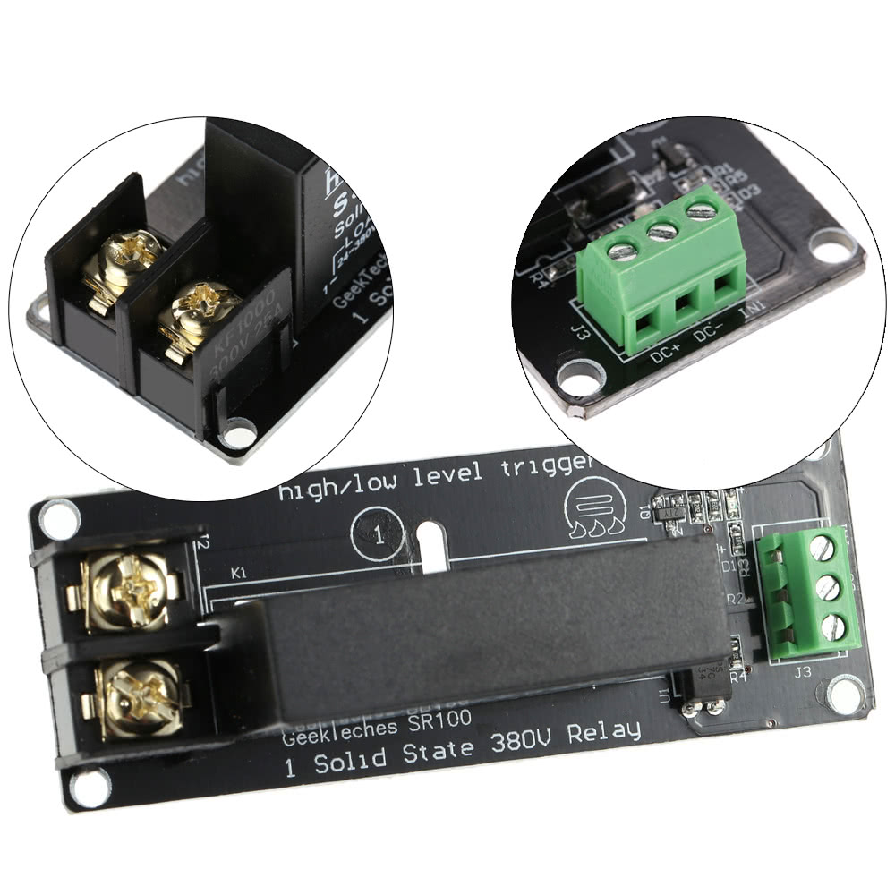 1 Channel High Low Level Trigger 380v 8a Solid State Relay Module The 8way Board