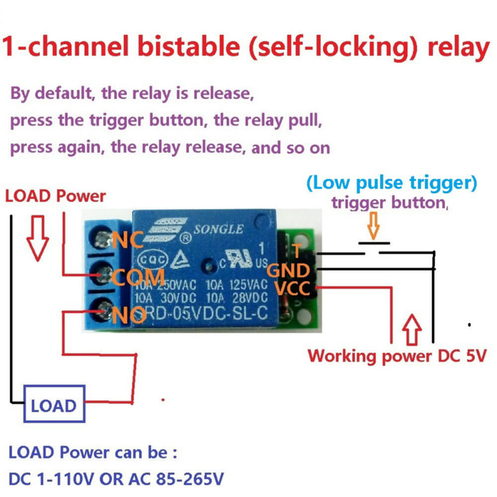 1 Channel 5v Self Locking Relay Module Bistable Latch Switch Low Switches The Load Current And A Latching Circuit That Controls Pulse Trigger Control Board Sales Online Tomtop