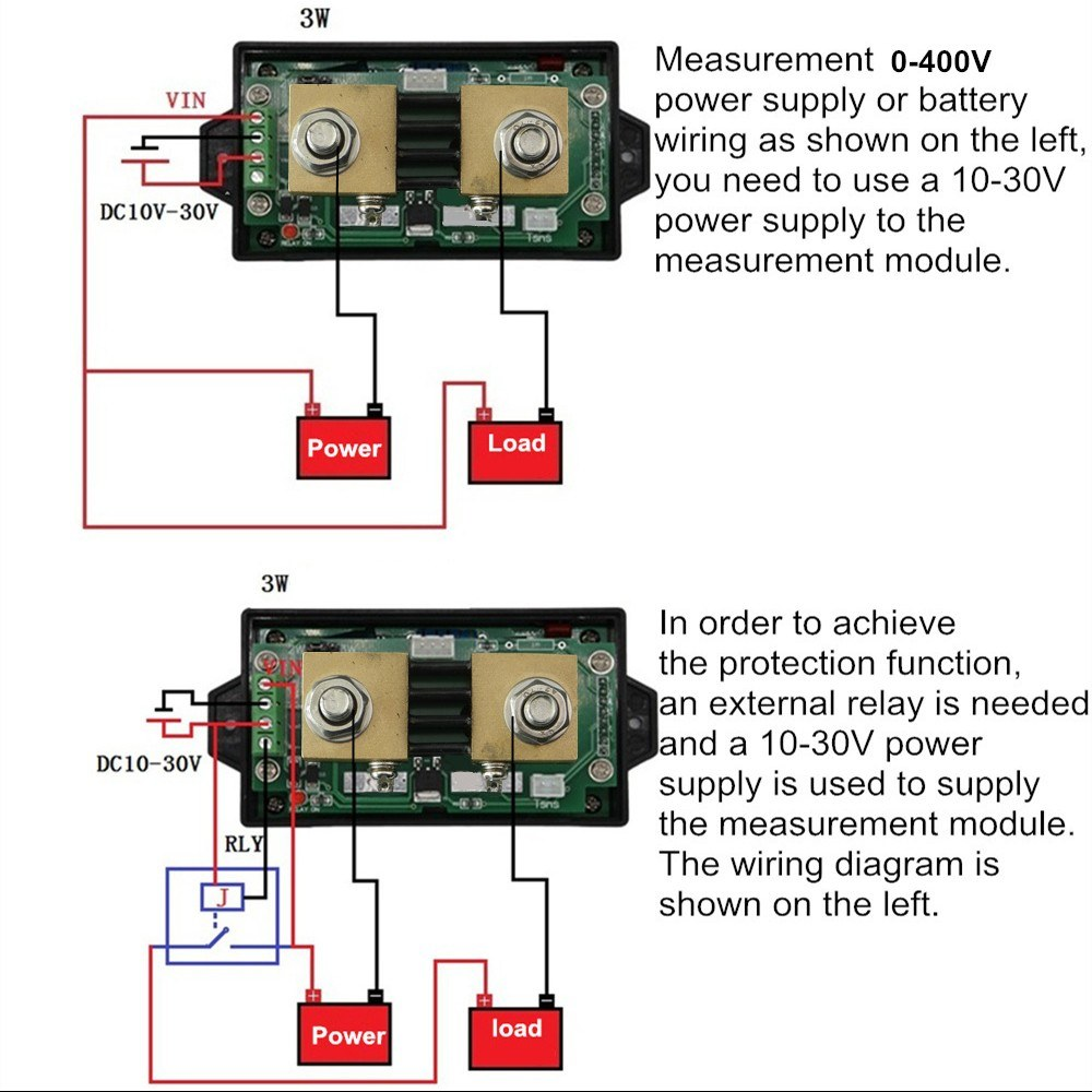 Juntek Dc 001 100v 01 300a Multifunctional Wireless Digital Bi Ammeter Wiring Diagram Get Free Image About Directional Voltage Current Power Meter Voltmeter Capacity Coulomb Counter Sales