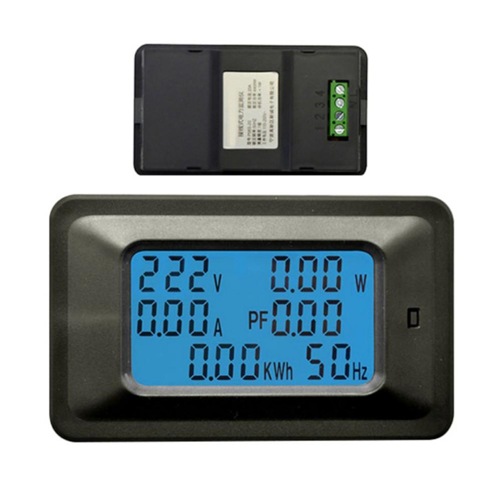20a Digital Voltage Meter Energy Lcd 5kw Power Factor Display Ammeter Voltmeter Panel Amp Volt 100a 100v Frequency Meters Current Amps Watt Tester Detector Indicator