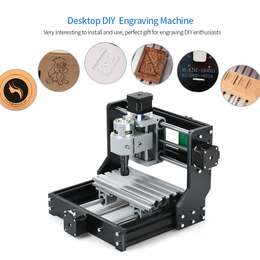 Desktop DIY Mini 1610 Pro CNC Carving Machine 3 Axis Small Engraving  Machine GRBL Control Mini cnc Machine CNC Engraver