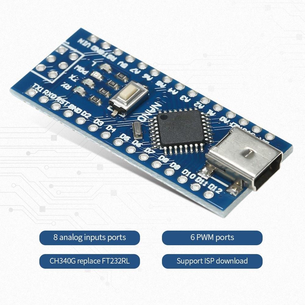 CH340G USB Nano V3 0 ATmega328P 5V 16M Micro-Controller Board for Arduino