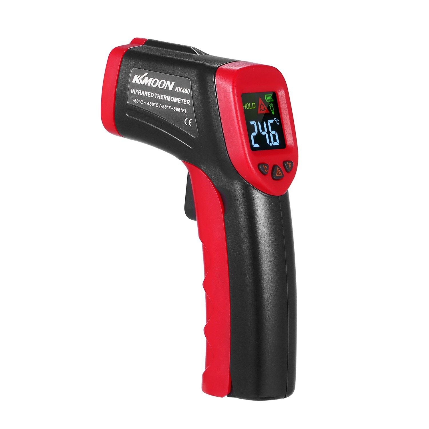 KKmoon -50uff5e480u2103 12:1 Handheld Digital Non-contact IR Thermometer Temperature Tester Pyrometer Industrial Infrared Thermometer