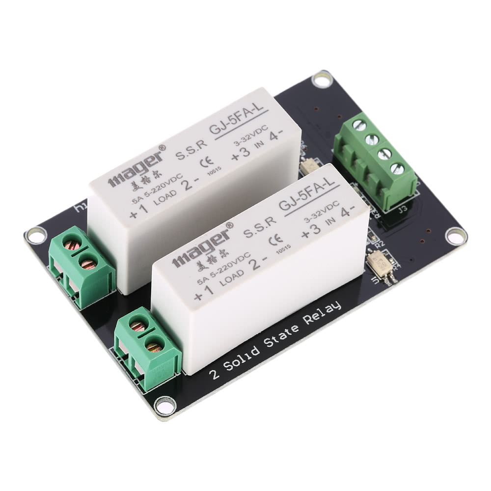 Best 2 Channel High Level Trigger 3 32v 5a Solid State Relay Module Board