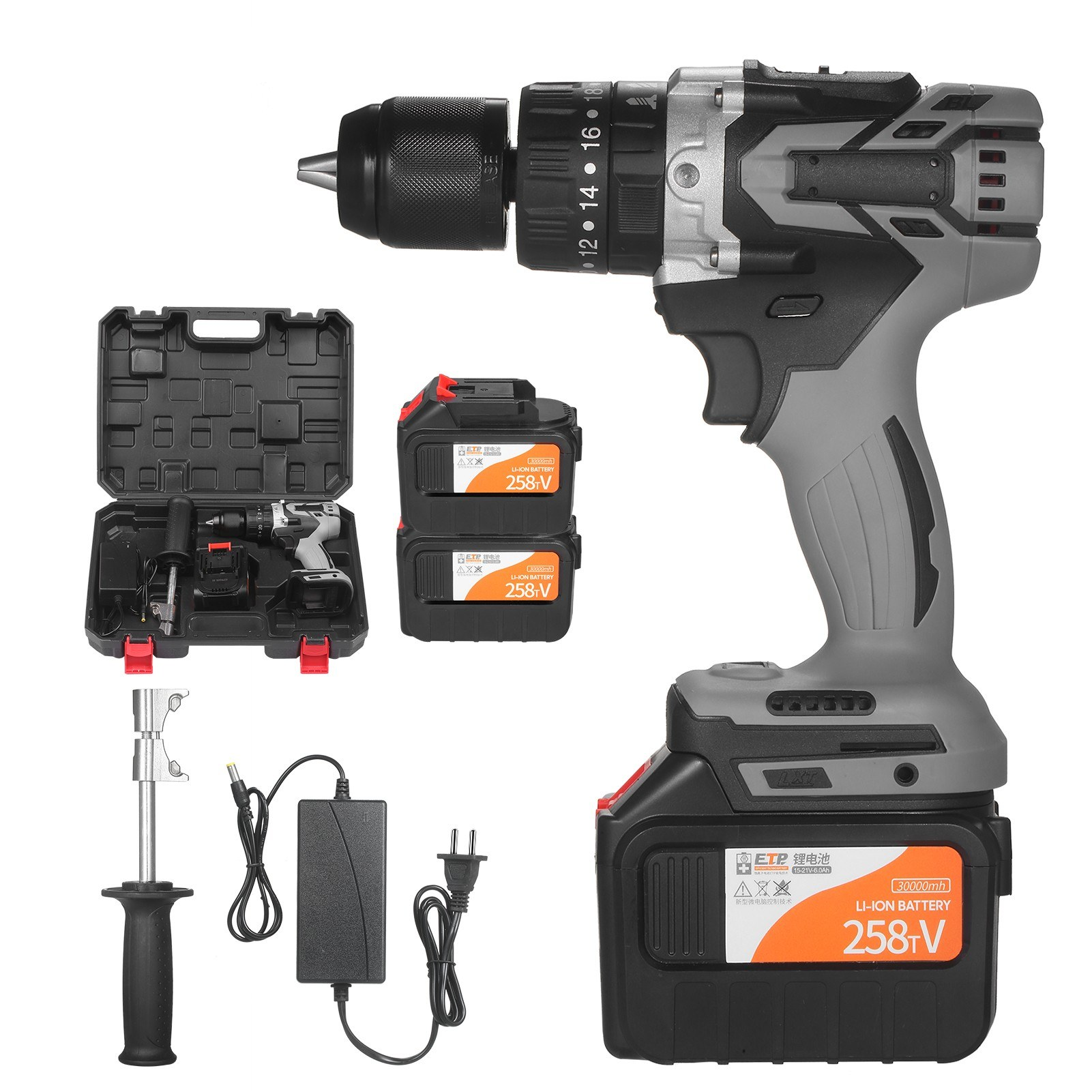 Cafago - 57% OFF Cordless Drill Driver 2Pack 21V 6.0A Batteries Max Torque 200N.m,free shipping+$96.51