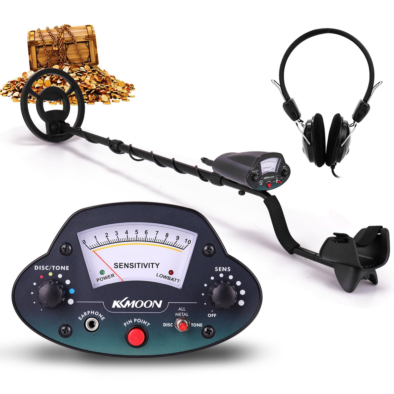 Tomtop - [EU Warehouse] 53% OFF KKmoon MD-5070 8.7 Inch Waterproof Search Coil Handheld Portable Metal Detector, Free Shipping $88.99