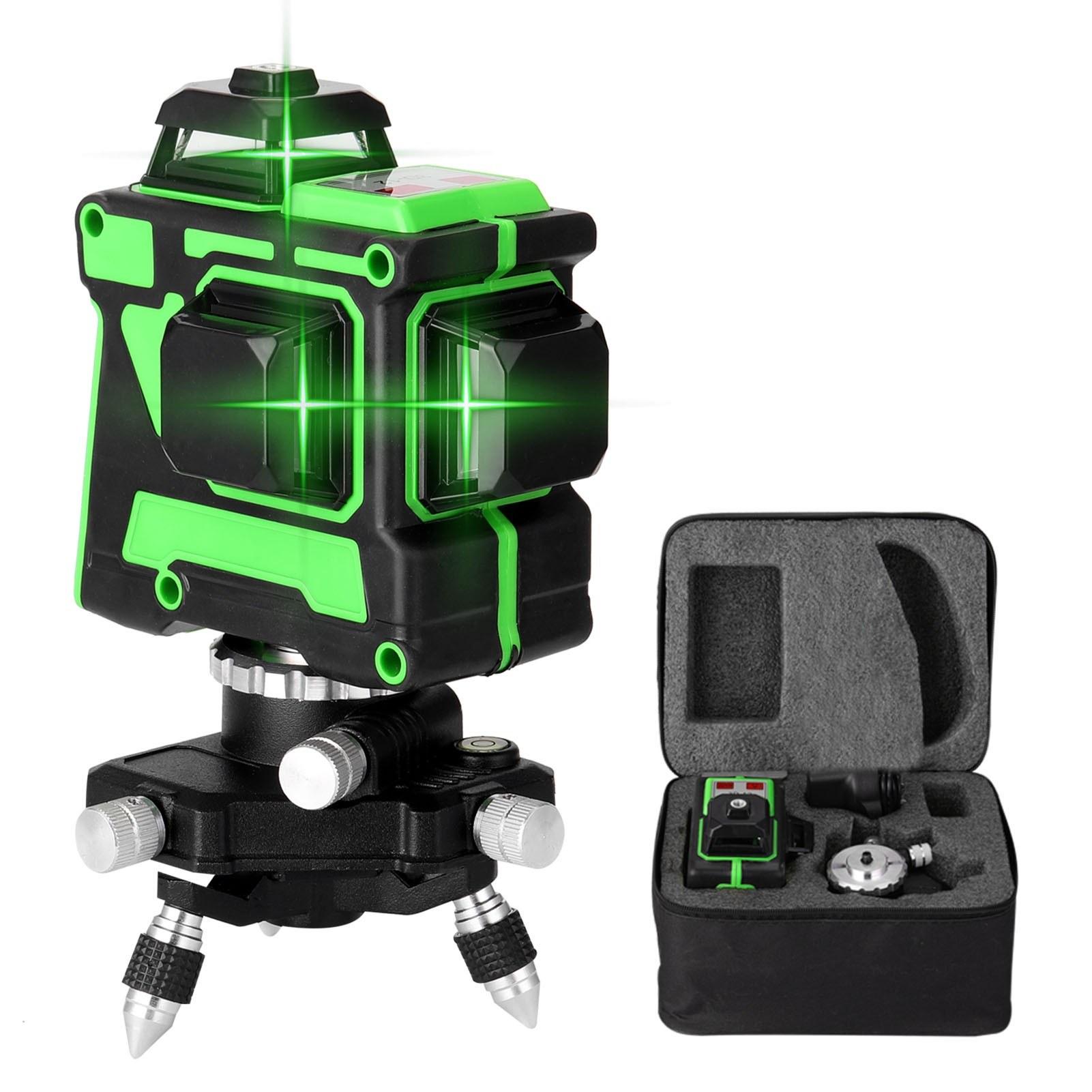 TomTop - [EU Warehouse] 41% OFF KKmoon Multifunctional 3D 12 Lines Laser Level Tool, $51.99 (Inclusive of VAT)
