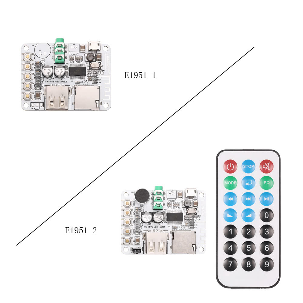 Usb Dc 5v Wireless Bt 21 Audio Receiver Board Amplifier Module Fm Circuit Radio Function Tf Card Slot With Remote Control Sales Online 2 Tomtop