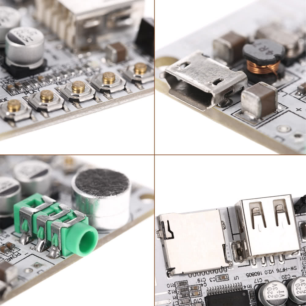 USB DC 5V Wireless BT 2 1 Audio Receiver Board Amplifier Module FM Radio  Function TF Card Slot with Remote Control
