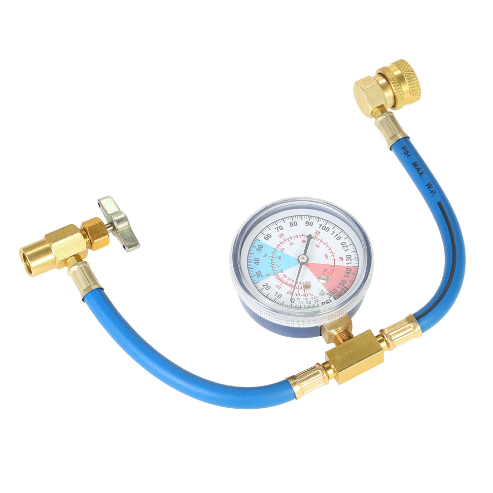 AC R134A Car Auto Air Conditioning Refrigerant Recharge Measuring Hose  Gauge Kit Sales Online - Tomtop