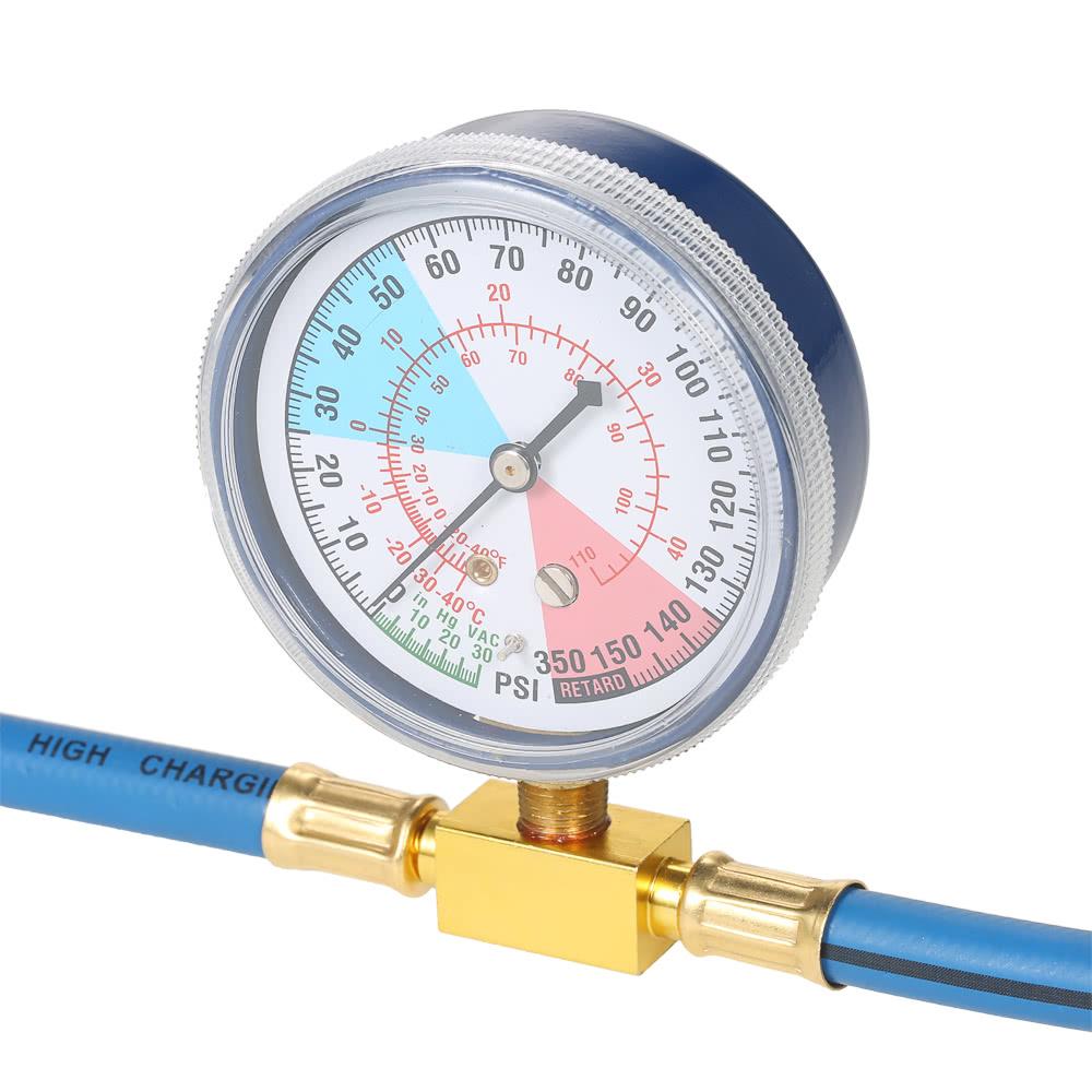 AC R134A Car Auto Air Conditioning Refrigerant Recharge Measuring Hose  Gauge Kit Sales Online - Tomtop
