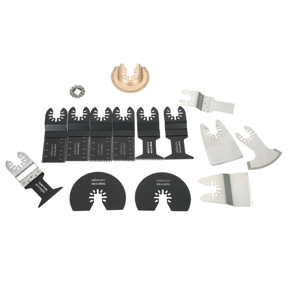 kkmoon 15pcs mix oscillating blade kit multi tool saw blades for dremel fein multimaster makita. Black Bedroom Furniture Sets. Home Design Ideas