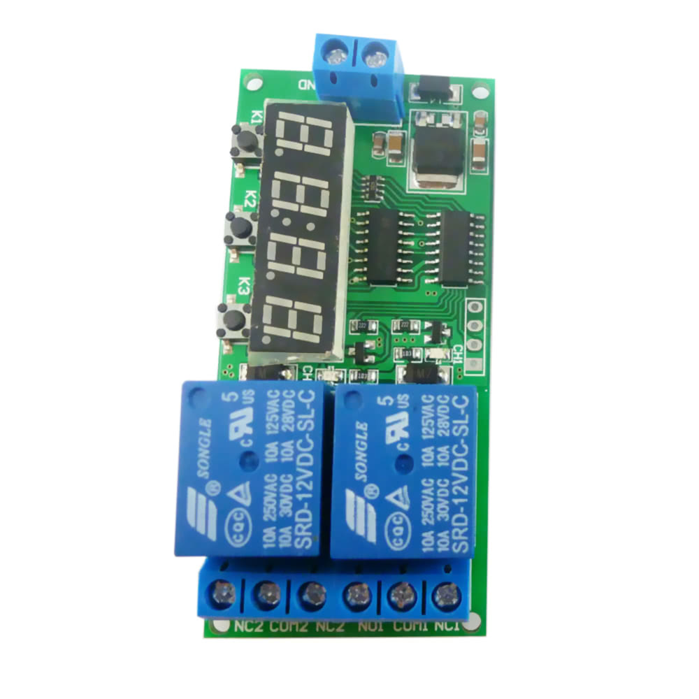 Dc 2ch 12v Multi Function Time Delay Relay Timing Switch Control Songle Spdt Srd Motor To Turn The Zero Line Sales Online Tomtop