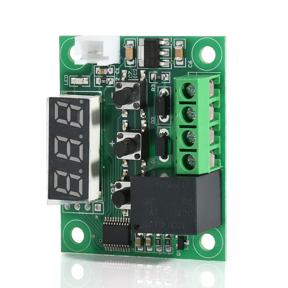 W1209 Blue Led Digital Temperature Controller Board Micro Thermostat Wiring Diagram Free Picture Electronic Temp Control 12v Dc Sensor Module Switch With One Channel Relay And