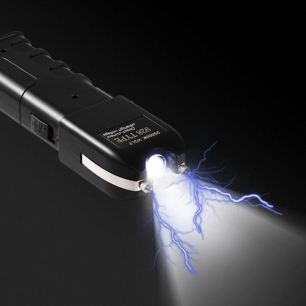 Rechargeable LED Flashlight Heavy Duty Stun Gear Self Defensive Flashlight