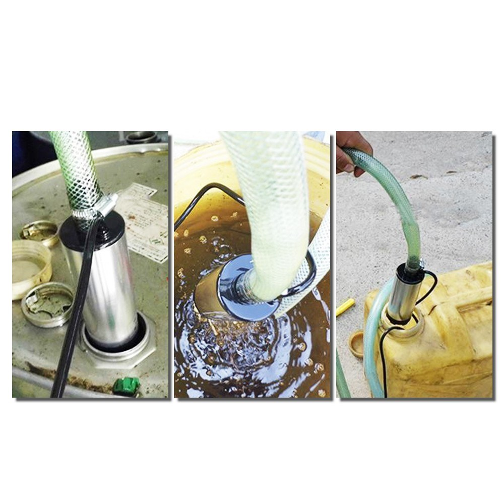 KKmoon DC 12V//24V Submersible Pump for Pumping Diesel Oil Water 51mm Water Oil Diesel Fuel Transfer Pump Refueling