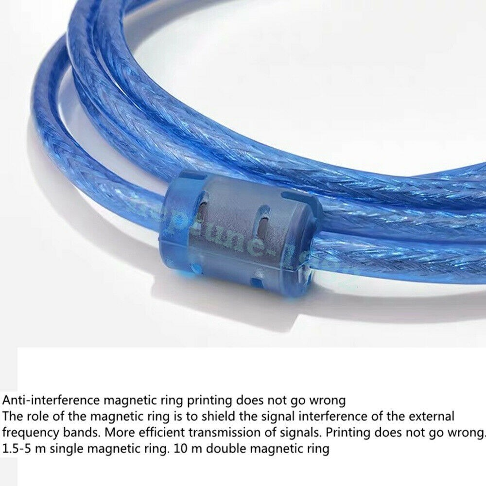 3M USB 2.0 High Speed Cable Printer Lead A to B Black Shielded 28AWG 300CM