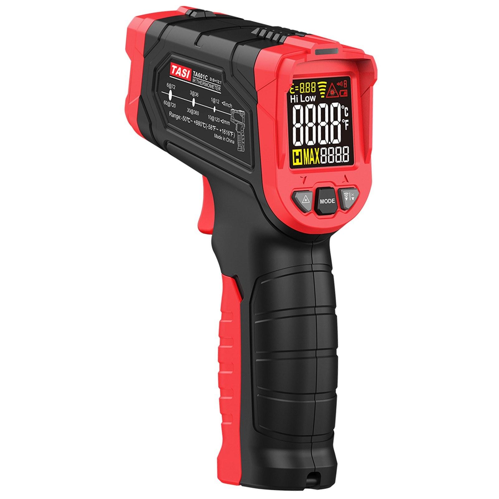 TASI Non-contact IR Infrared Thermometer Digital Handheld Temperature Tester 12:1 Pyrometer Color LCD Display Backlight Centigrade Fahrenheit -50uff5e880u2103(-58uff5e1616u2109)