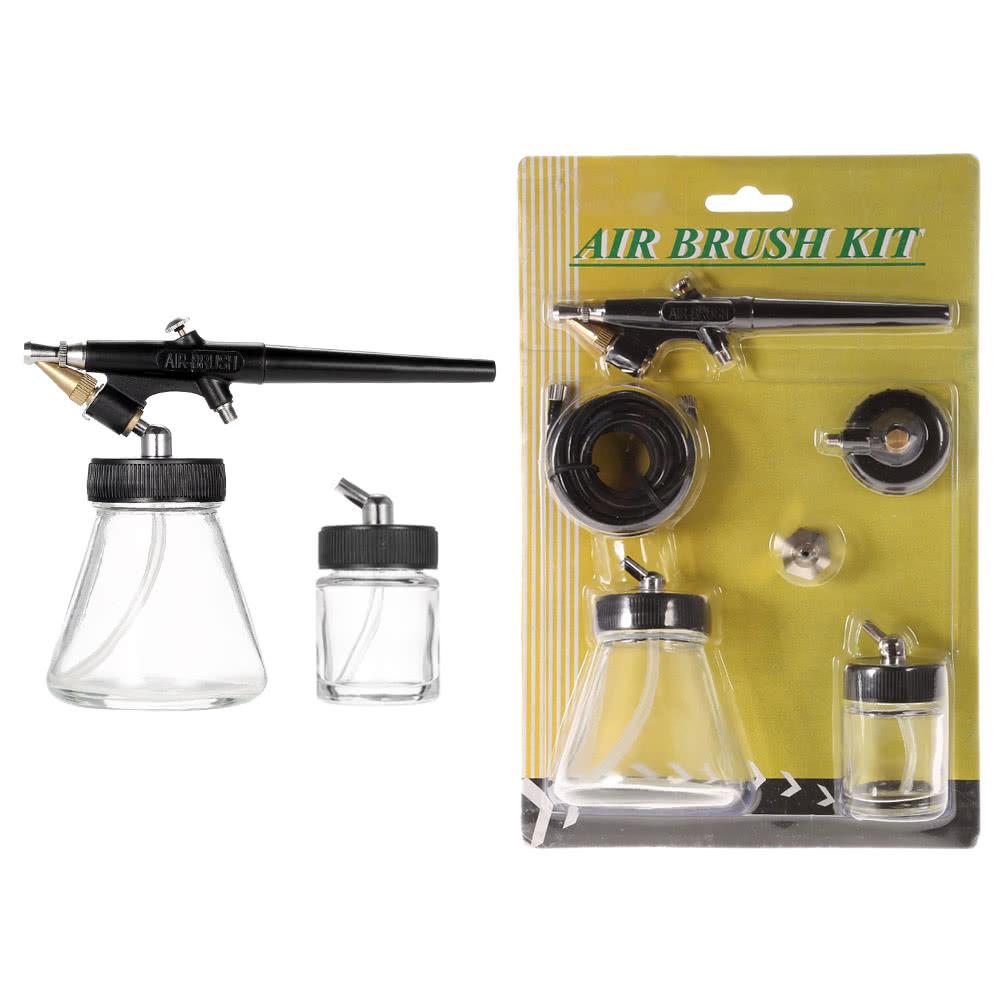 New beginner siphon feed spray paint airbrush mini for Airbrush tattoo kit