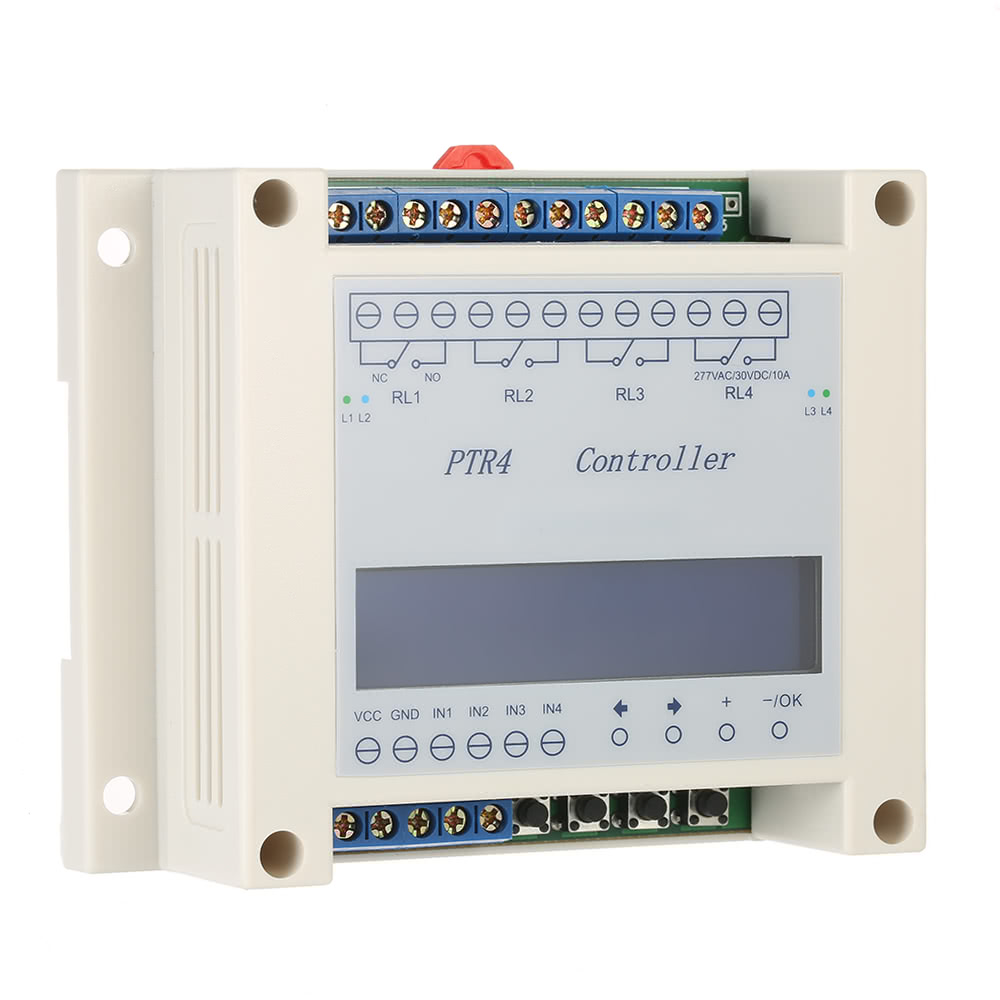DC640V 4Channel Programmable Digital Time Relay Timer Controller
