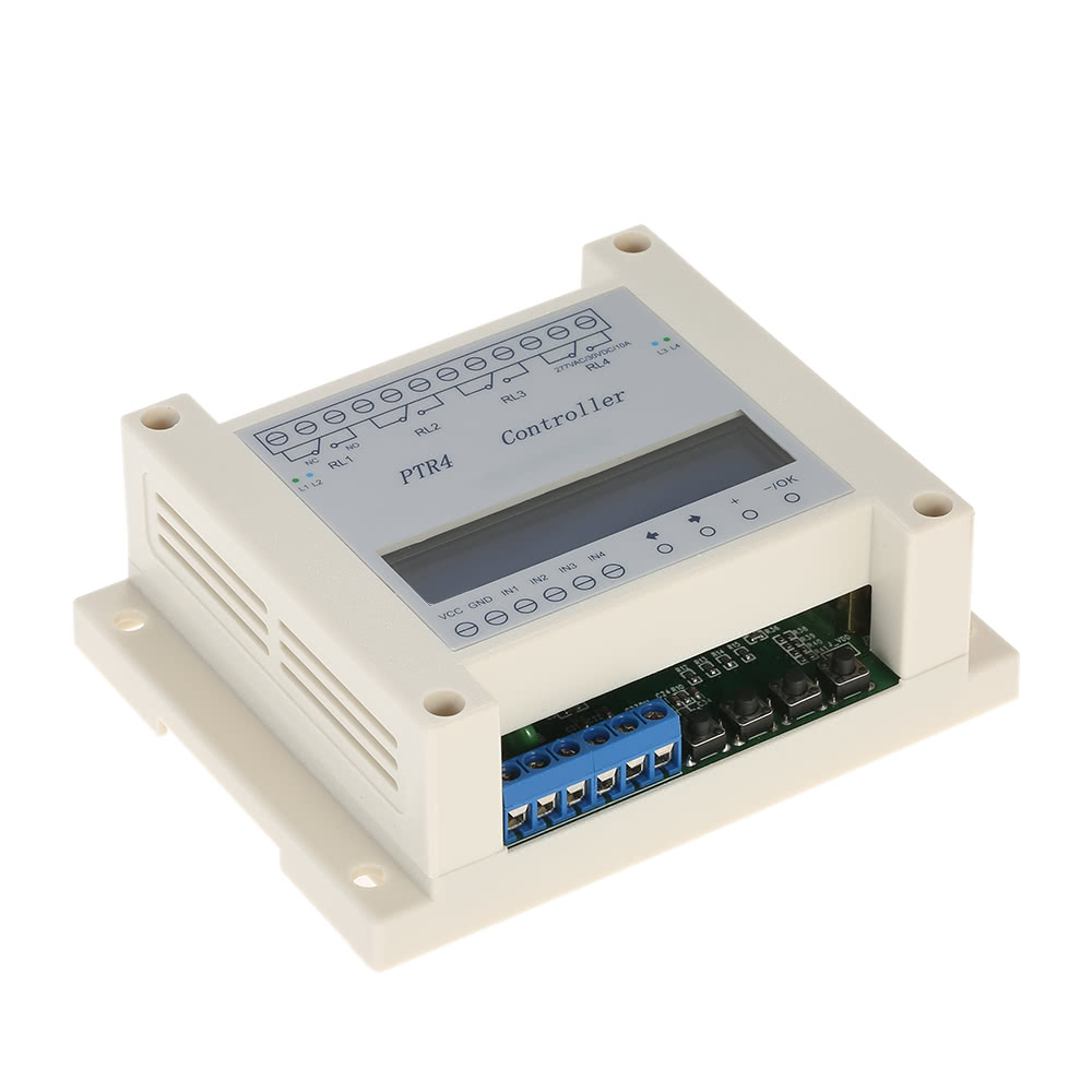 Dc6 40v 4 Channel Programmable Digital Time Relay Timer Controller Circuit Delay Switch Module Independent Timing Cycle Lcd Display