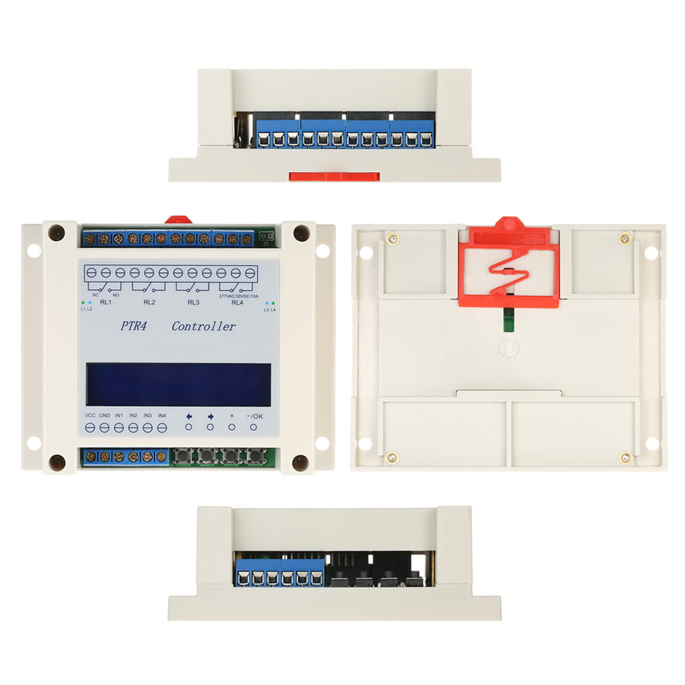 Dc6 40v 4 Channel Programmable Digital Time Relay Timer Controller Led Strobe Has Independent Delay And Duration Schematic Switch Module Timing Cycle Lcd Display