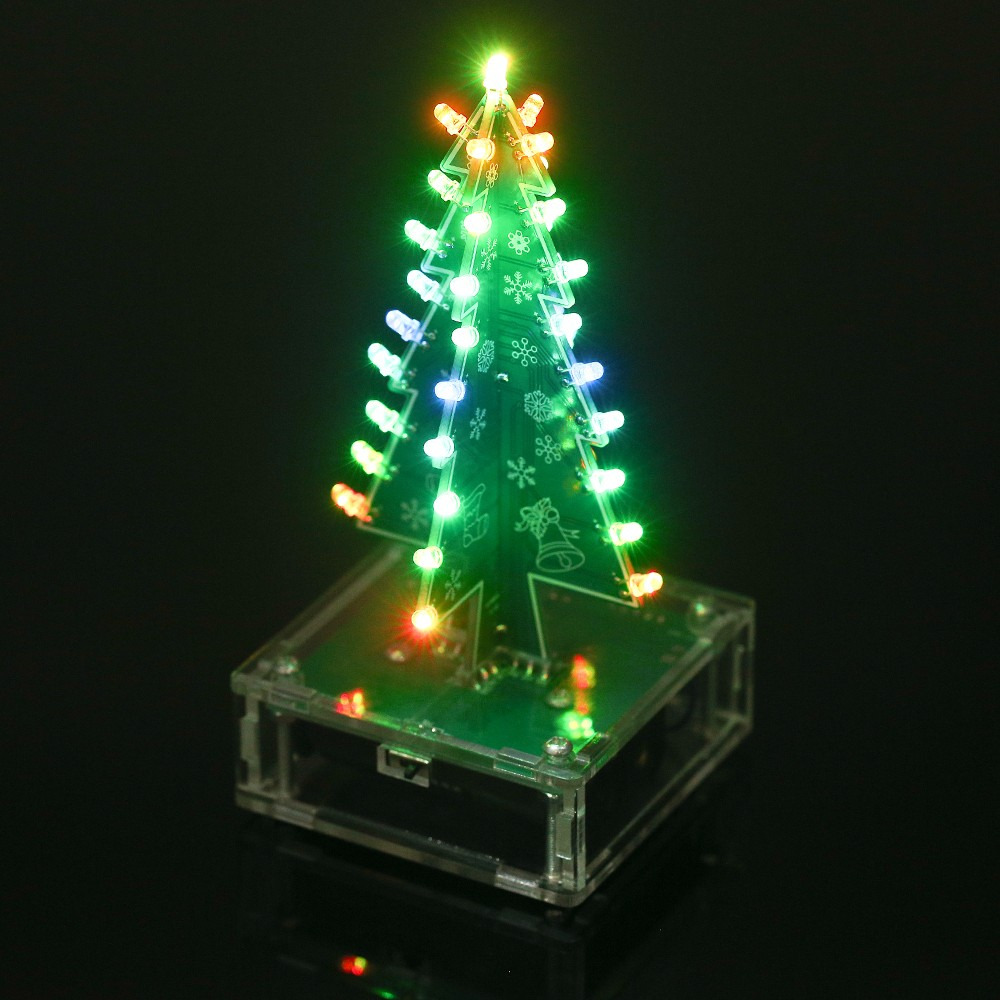 DIY Colorful Easy Making LED Light Acrylic Christmas Tree with Music ...