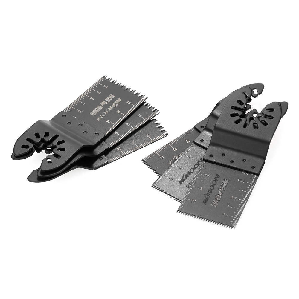KKmoon 6pcs Wood Oscillating Multi Tool Quick Release Saw Blade for Fein Multimaster Makita Bosch Craftsman Porter Rockwell Cable Black & Decker Ridgid ...
