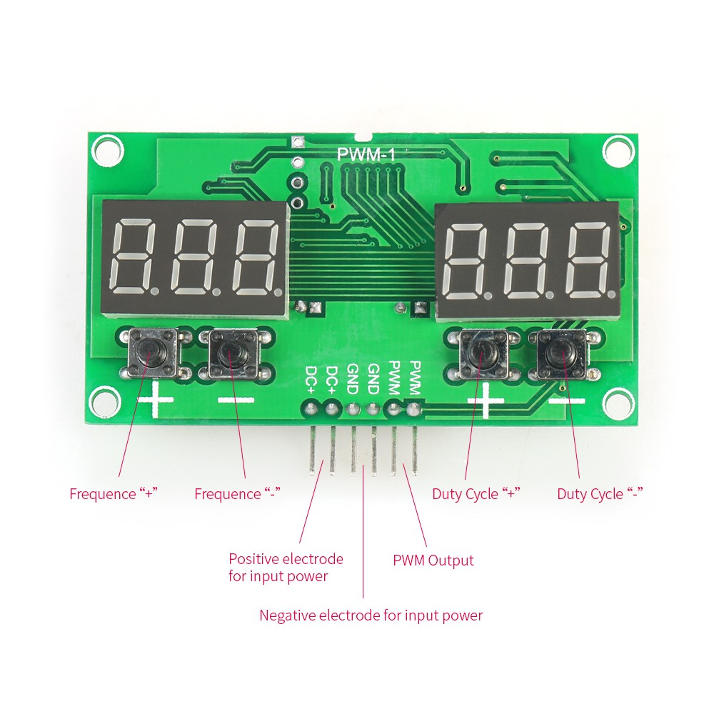 Mini Signal Generator Module Stepper Motor Driver with Adjustable PWM Pulse  Frequency Duty Cycle 1%~99% 6HZ~100KHZ Sales Online - Tomtop
