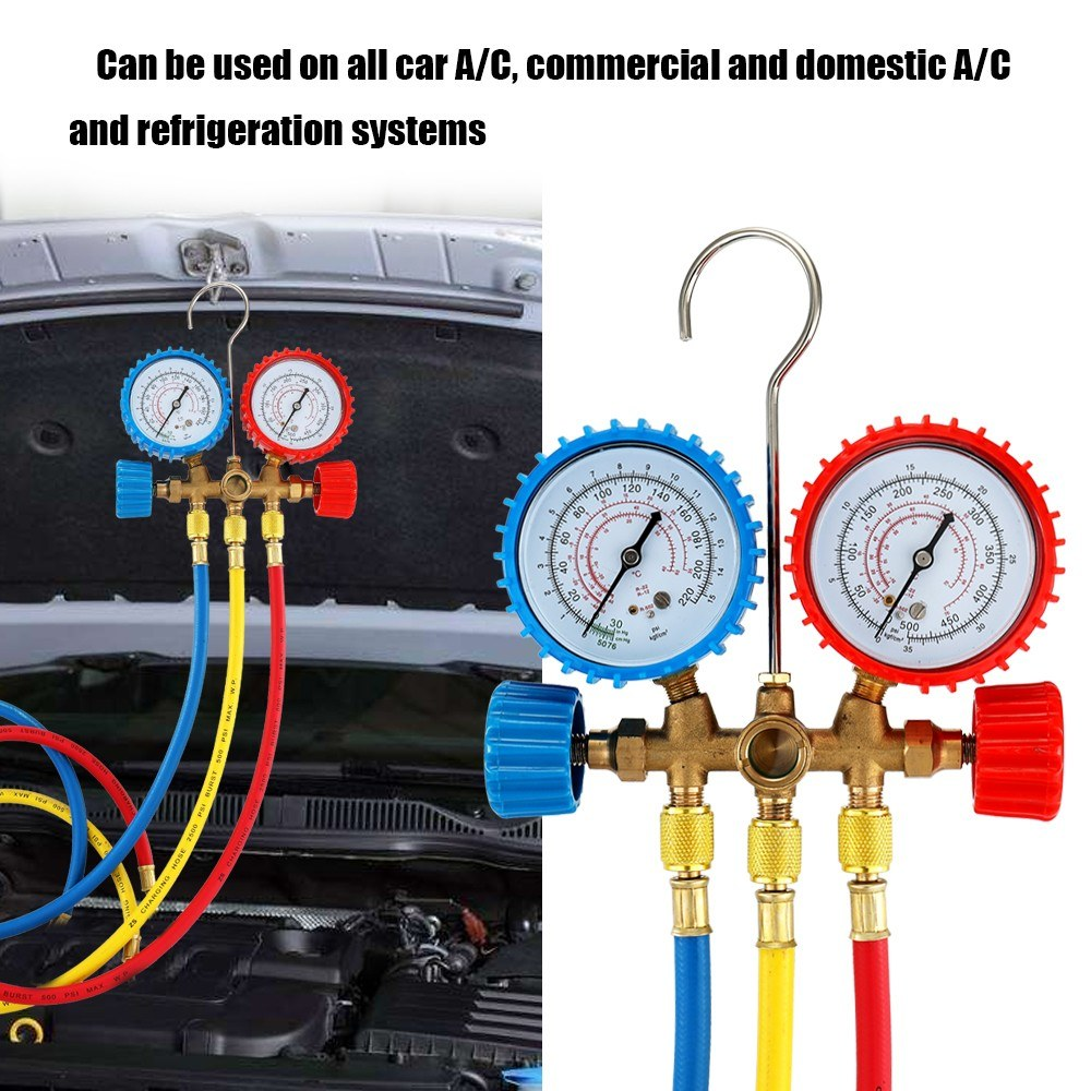 Electrical Wire Gauge Measuring Tool Digital Manifold: Refrigerant Manifold Gauge Set Air Conditioning Tools