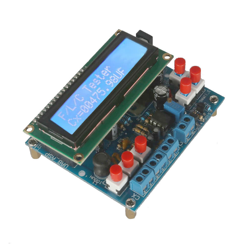 Electrical Frequency Tester : Lcd digital secohmmeter capacitance meter diy kit