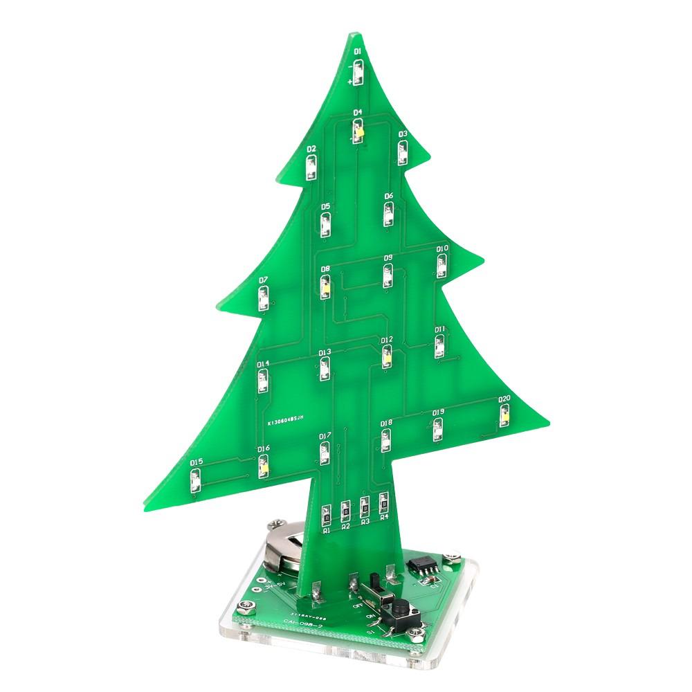 DIY Colorful Easy Making LED Light Acrylic Christmas Tree Electronic ...