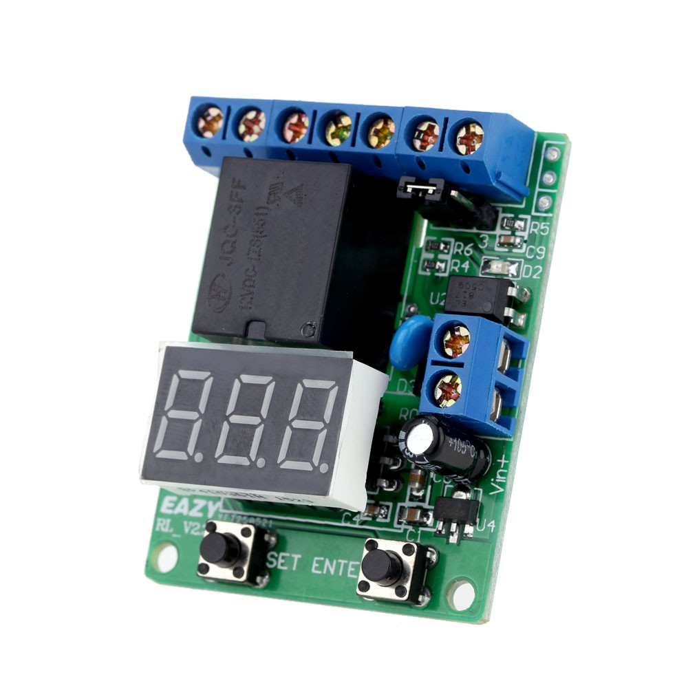 Dc 12v Voltage Detection Charging Discharge Monitor Test Relay Switching In Switch Control Board Module