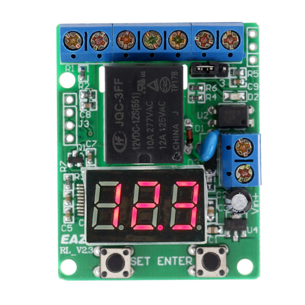 Dc 12v Voltage Detection Charging Discharge Monitor Test Relay Power Lock Switch Control Board Module