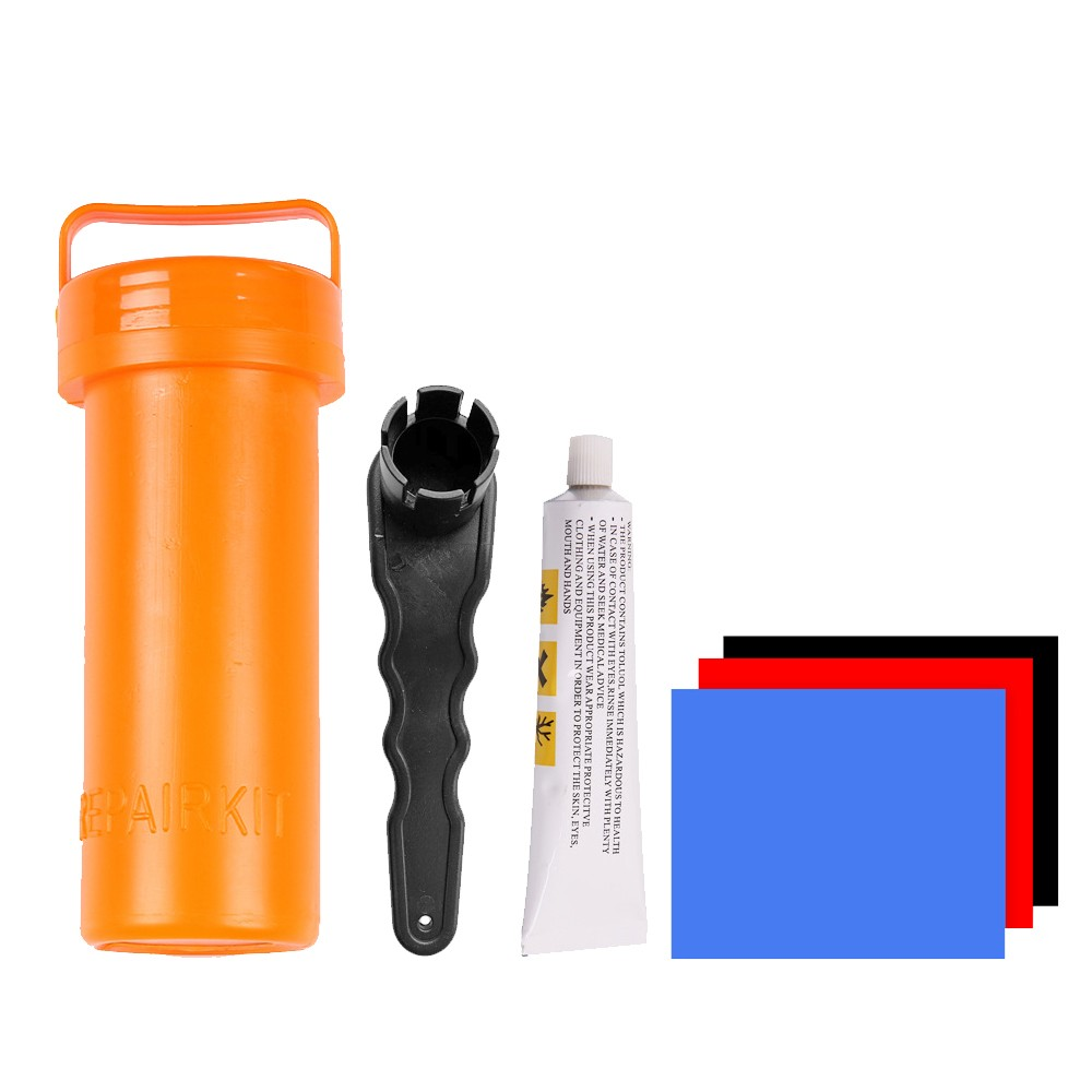 SUP Repair Kit PVC Patches Glue Inflatables Portable Stand-Up Paddleboard Repair Kit Wrench Inflatable Kayak Boat Raft Surfboard