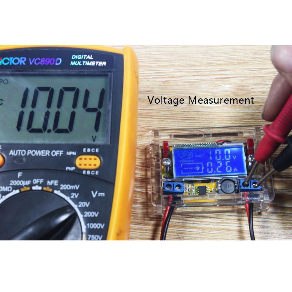 Led Voltmeter Kits : Dc adjustable power step down charge module diy kit led