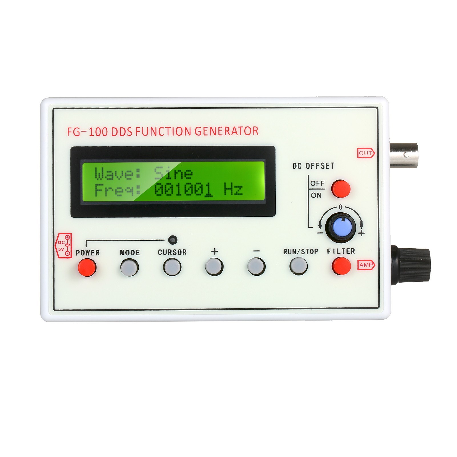 tomtop.com - 27% OFF 1HZ-500KHZ FG-100 DDS Functional Signal Generator, Limited Offers $46.99