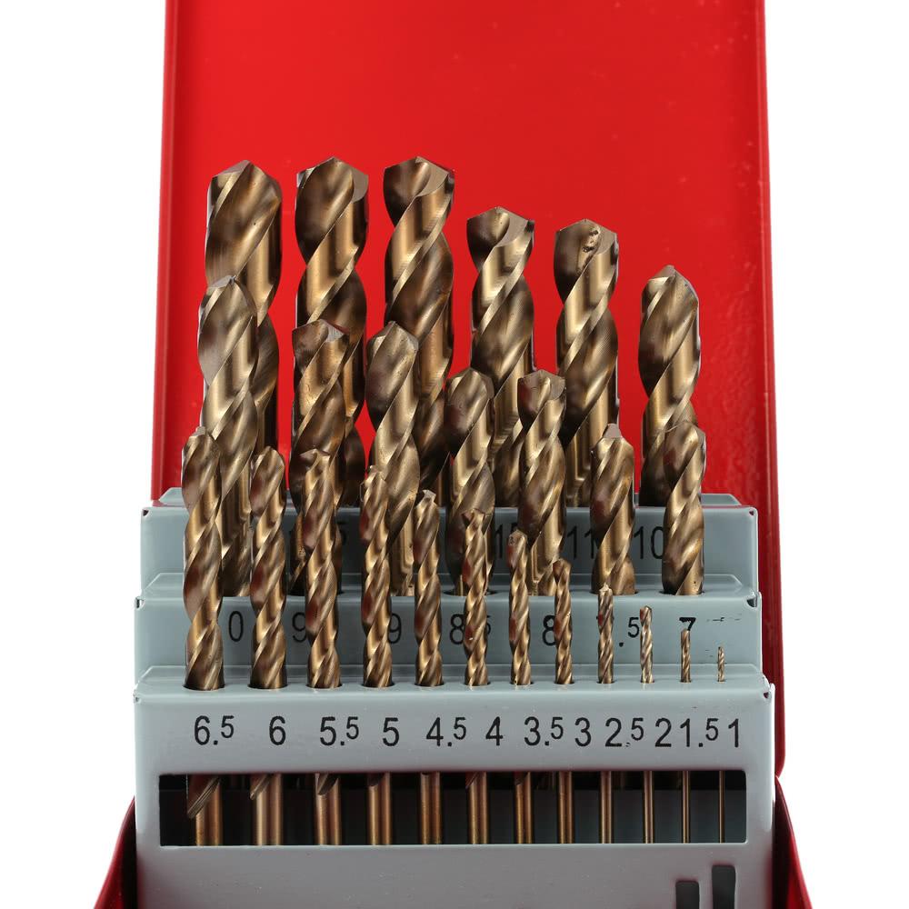 25pcs/set Round Shank Cobalt Drill Bit Twist Drill Bit Set ...