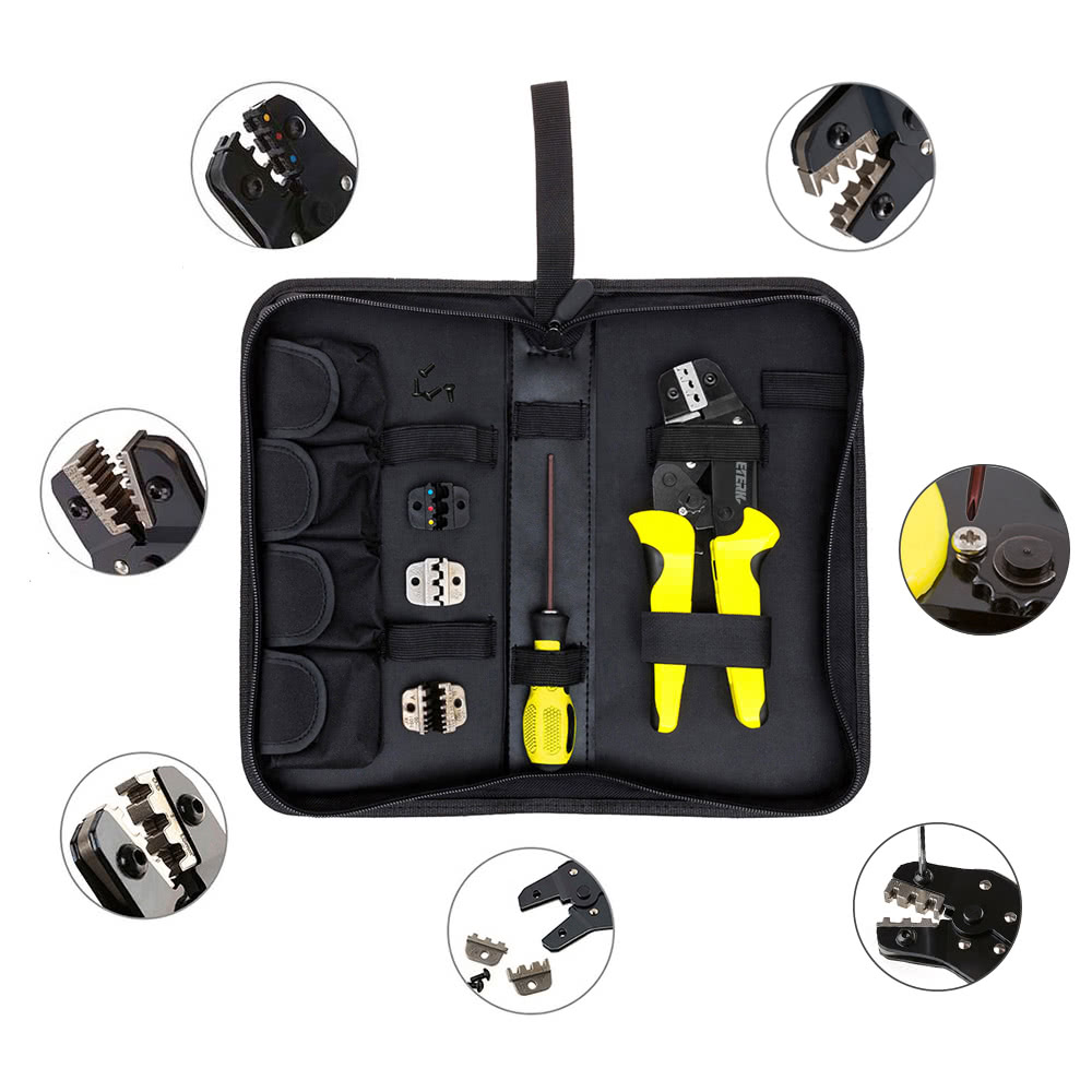Meterk Professional 4 In 1 Wire Crimpers Engineering Ratcheting 2004 Jeep Wiring Connector Crimp Terminal Crimping Pliers Bootlace Ferrule Crimper Tool Cord End Terminals Sales Online Black