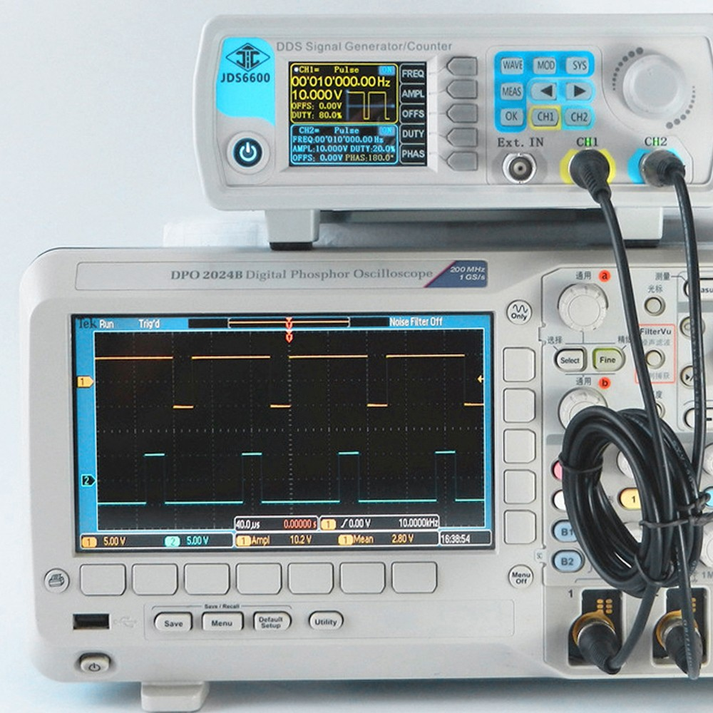High Precision Digital Dual Channel Dds Function Signal Generator Frequency Waveform Arbitrary Pulse 1hz 100mhz Meter 200msa S 15mhz