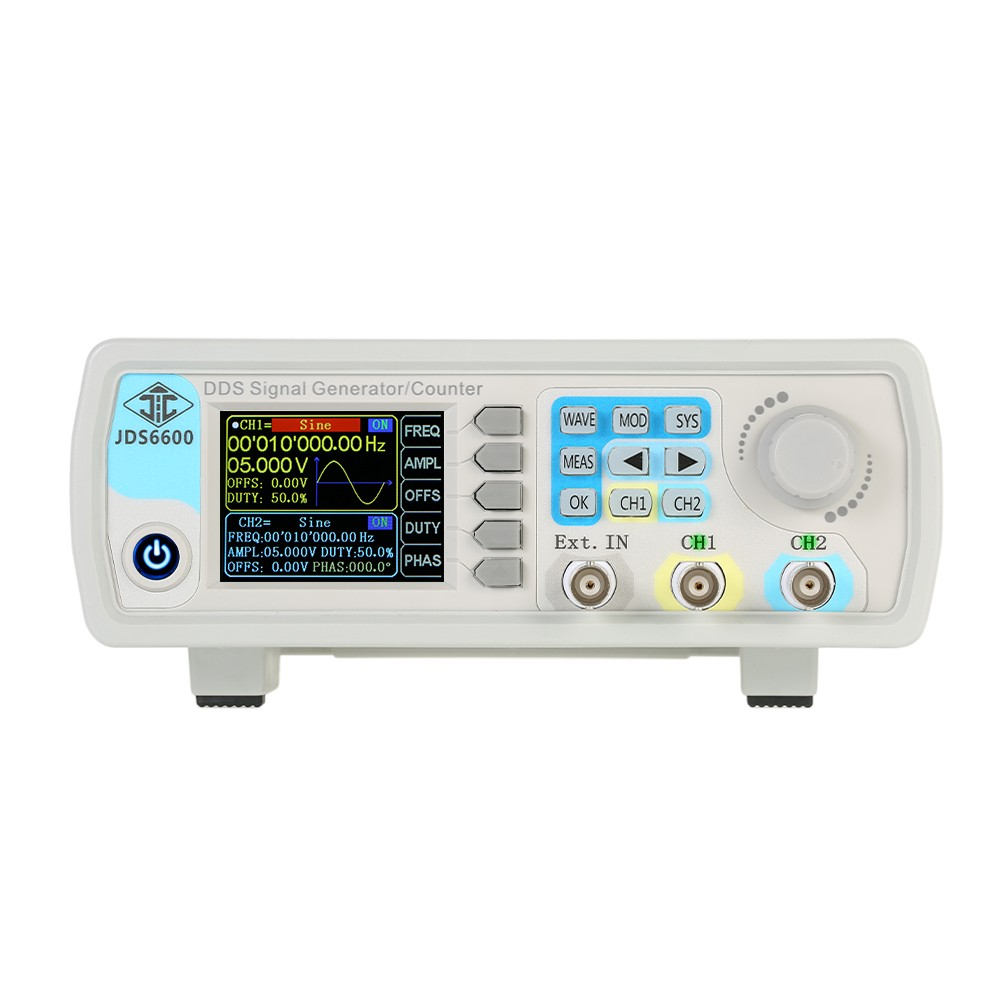 High Precision Digital Dual Channel Dds Function Signal Generator Frequency Waveform Arbitrary Pulse 1hz 100mhz Meter 200msa S 15mhz Sales