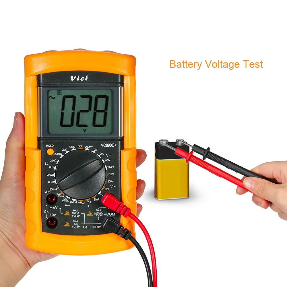 Vici Multi Functional Digital Multimeter Dmm With Temperature Probe For Meter Detector Dc Ac Voltage Current Resistance Capacitance Diode Tester
