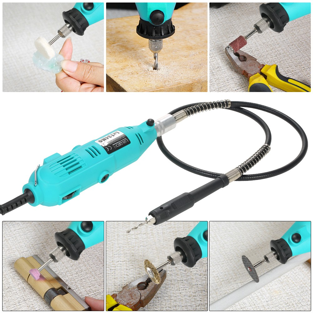 228 Piece Rotary Tool Accessories Kit With Flex Shaft Electric Acessories Dremel 150pcs Best Quality Grinder Drill 6 Speed Variable Cutting Engraving Grinding Sanding Tools Ac220v