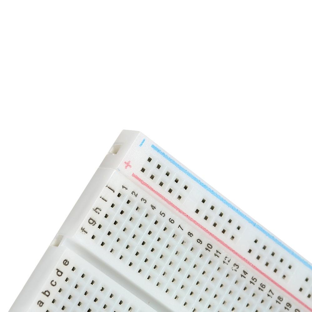 2pcs Mini 400 Tie Point Pcb Solderless Breadboard Prototype Raspberry Pi Circuit Board Protoboard For Arduino