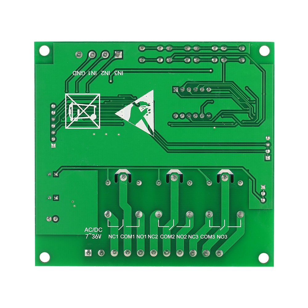 Programmable 3-Channel LED Relay Module DC/AC7V~36V Motor Driver Controller  for Arduino Raspberry Pi